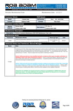 sample maintenance program form